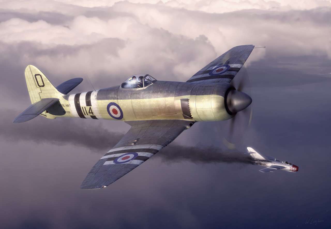 the sea and the fury The hawker sea fury was one of the fastest piston-engined fighters ever produced and the last prop-driven aircraft taken on by the british royal navy.